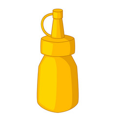 bottle of mustard icon cartoon style vector image