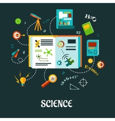 Creative science flat concept vector image