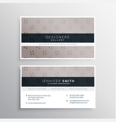 Elegant dots pattern business card template vector