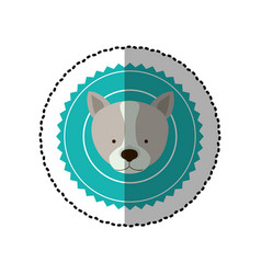 Emblem dog hunter city icon vector