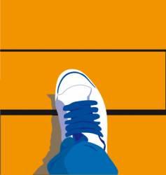Footsteps vector