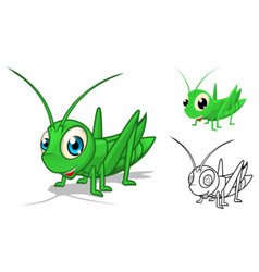Grasshopper Cartoon Character vector image