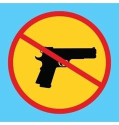 Gun ban forbidden concept icon isolated weapon vector