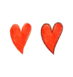 Hand drawing heart vector image vector image
