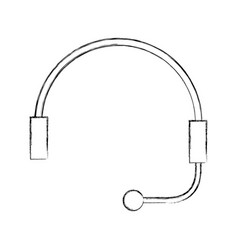 Headphone for support or service customer vector