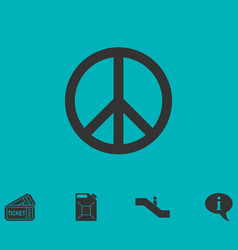 Hippie peace icon flat vector