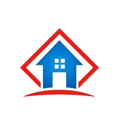 home architecture icon building logo vector image vector image
