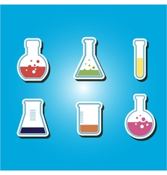 icons with containers for chemical goods vector image