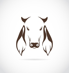 Image of cow head vector