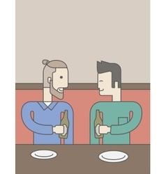 Men sitting in bar vector