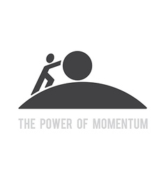 power of momentum vector image