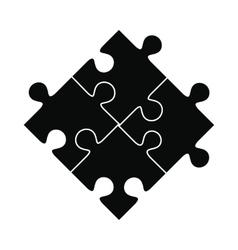 Puzzle black simple icon vector image