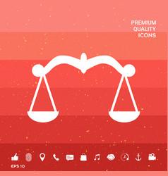 Scales symbol icon vector
