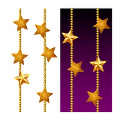 Set of shiny golden chains vector image vector image
