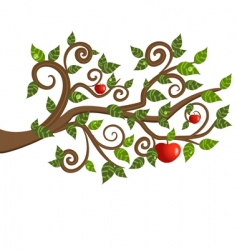 tree branch from an apple vector image vector image