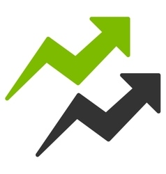 Trends icon from business bicolor set vector