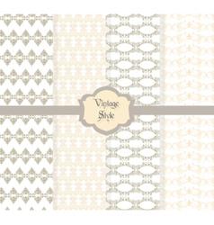 Vintage damask ornaments pattern vector image vector image