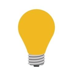 Yellow bulb light vector