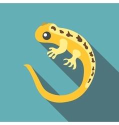 Yellow lizard icon flat style vector image