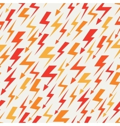 Orange red and yellow lightnings seamless pattern vector
