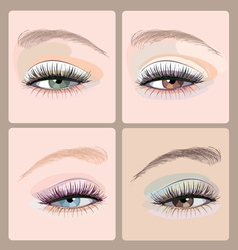 Make-up-eyes vector