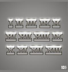roman numerals set vector image