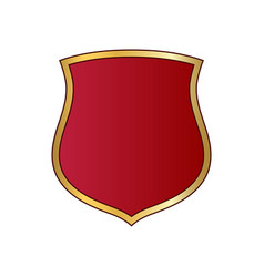 Shield gold red icon shape emblem vector