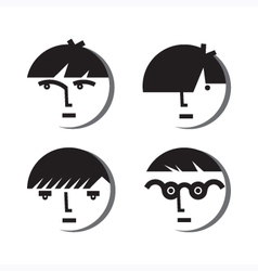 Boy avatar icons vector
