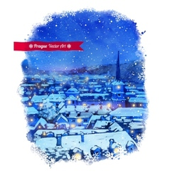 Winter prague vector
