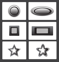 Metal button vector