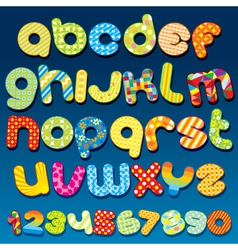 motley colorful cartoon font vector image