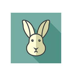 Rabbit icon farm animal vector