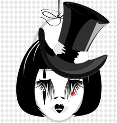Dame in black hat vector