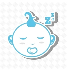 Sleeping concept design vector