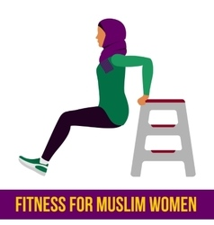 Muslim aerobic icons full color vector