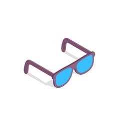 Sunglasses icon in isometric 3d style vector image