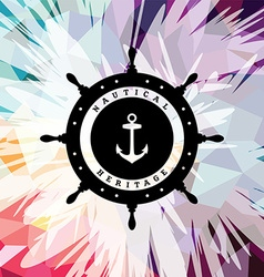 Abstract colorful anchor navy nautical theme vector image vector image