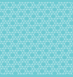 abstract jewish star pattern vector image