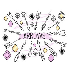 Arrows clipart on white background hand vector