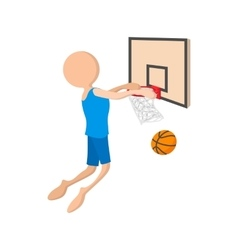 Basketball cartoon icon vector image vector image