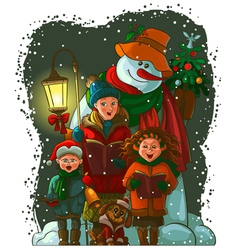 christmas choir vector image