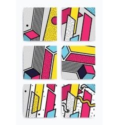 Colorful pop art set vector