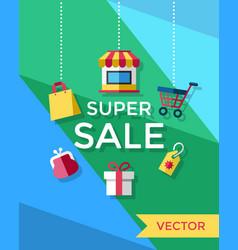 digital yellow blue green vector image