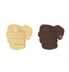 Fists with pointing finger vector
