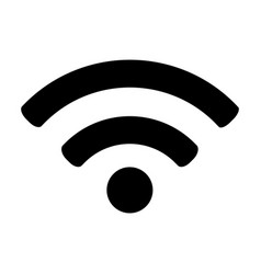 flat black wifi icon vector image vector image