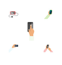 flat icon smartphone set of smartphone vector image vector image