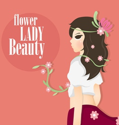 flower lady vector image