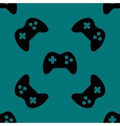Gaming joystick web icon flat design seamless vector