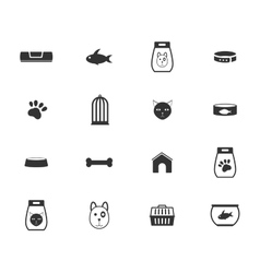 Goods for pets icons vector image vector image