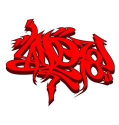 Graffiti tagging vector